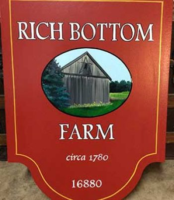custom sign for farm