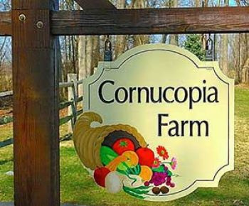 colorful farm sign
