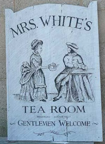 tea room sign