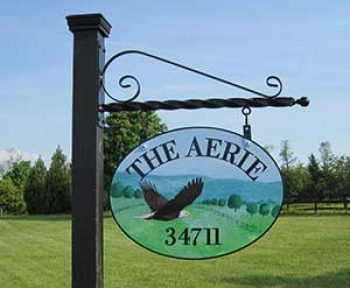 farm sign post